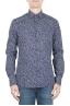 SBU 01591 Geometric printed pattern blue cotton shirt 01