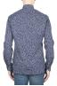 SBU 01591 Geometric printed pattern blue cotton shirt 04