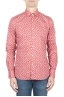 SBU 01592 Geometric printed pattern red cotton shirt 01