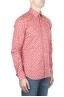 SBU 01592 Geometric printed pattern red cotton shirt 02