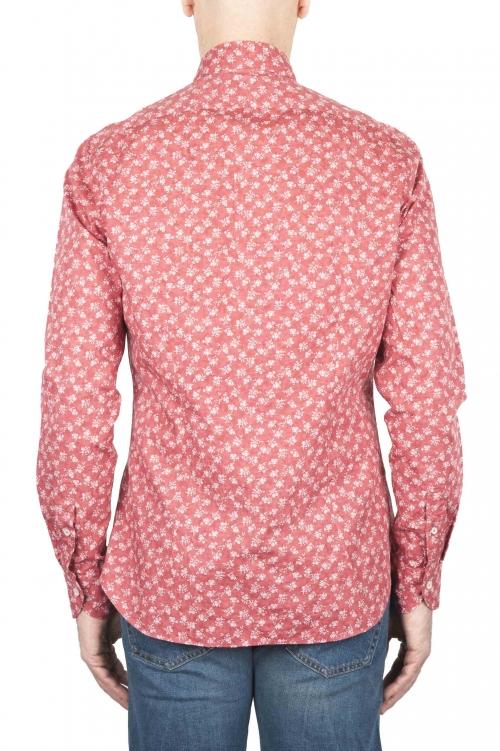 SBU 01592 幾何学模様の赤い綿のシャツ 01
