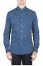 SBU 01593 Geometric printed pattern indigo cotton shirt 01