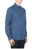 SBU 01593 Camisa de algodón estampado geométrico indigo 02