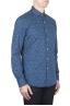 SBU 01593 Chemise en coton indigo à motifs géométriques 02