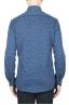 SBU 01593 Geometric printed pattern indigo cotton shirt 04