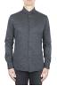 SBU 01594 Camicia in cotone mouline grigio 01