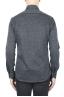 SBU 01594 Grey mouline cotton shirt 04