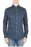 SBU 01595 Camisa de algodón azul mouline 01