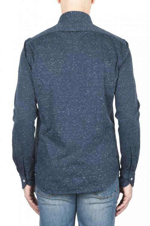 Camicia Mouline blu