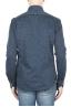 SBU 01595 Camicia in cotone mouline blu 04