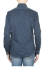 SBU 01595 Camisa de algodón azul mouline 04