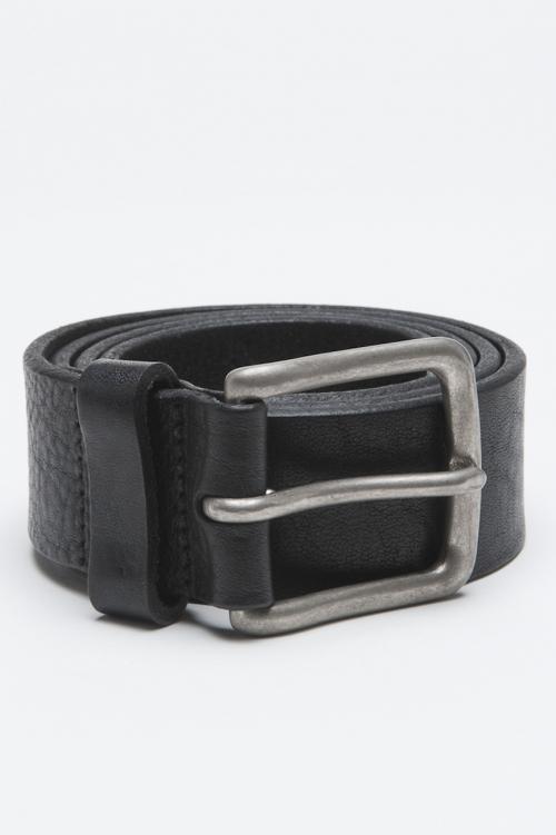 Cintura Classic In Pelle Di Vitello Nera Con Fibbia Di Metallo 3 Cm