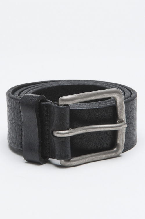 SBU - Strategic Business Unit - Classic Adjustable Buckle Closure Black Leather 1.4 Inches Belt