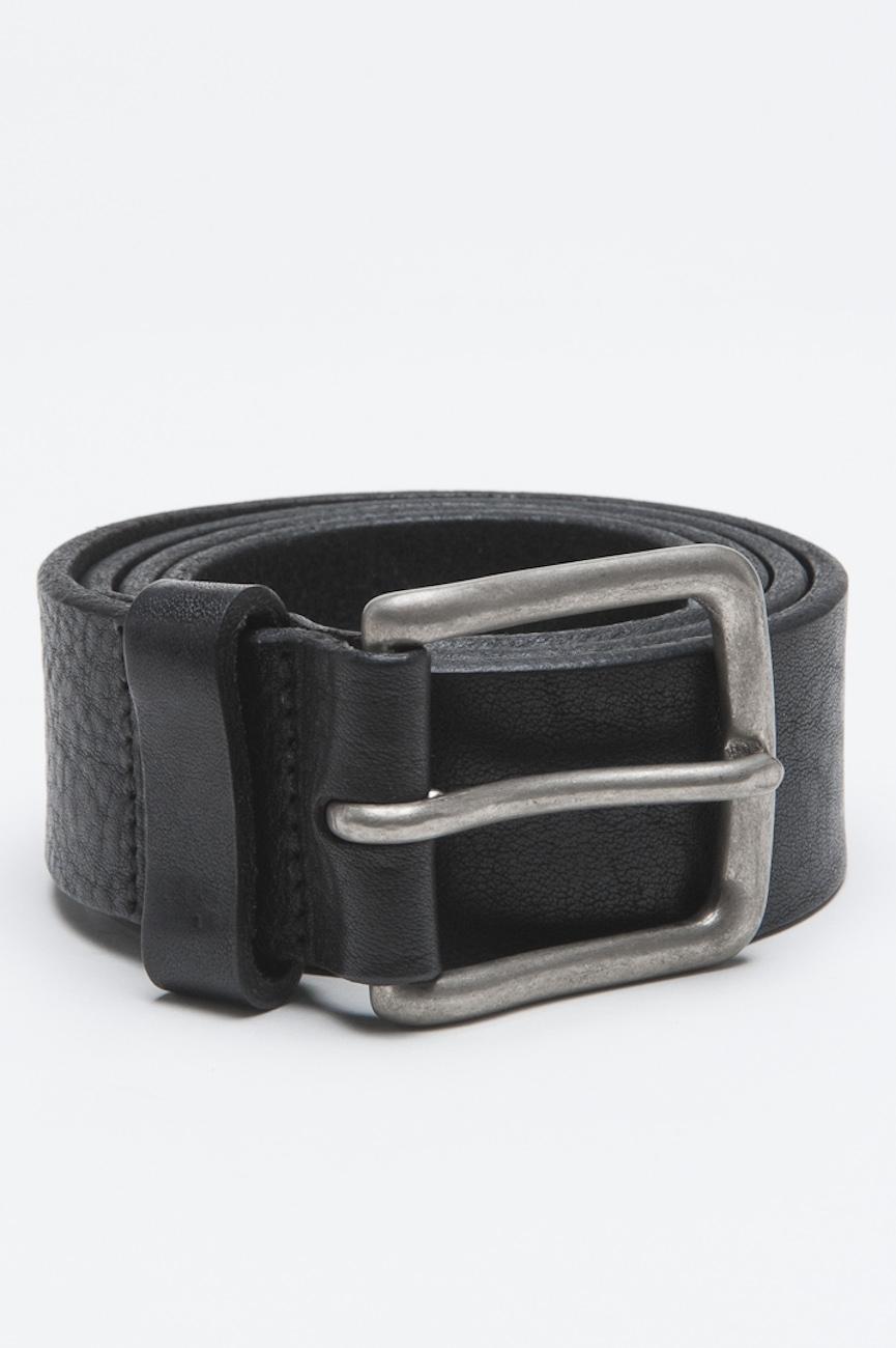 SBU - Strategic Business Unit - Cintura Classic In Pelle Di Vitello Nera Con Fibbia Di Metallo 3.5 Cm