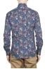SBU 01600 花柄プリントブルーコットンシャツ 05