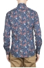 SBU 01600 Floral printed pattern blue cotton shirt 05
