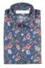 SBU 01600 Chemise en coton bleu à imprimé fleuri 06