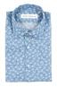 SBU 01601 花柄プリントライトブルーコットンシャツ 06