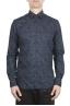 SBU 01602 Camisa de algodón estampado floral azul 01