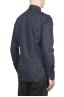 SBU 01602 Floral printed pattern blue cotton shirt 04