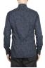 SBU 01602 Floral printed pattern blue cotton shirt 05
