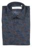 SBU 01602 Floral printed pattern blue cotton shirt 06