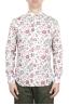 SBU 01603 Camisa de algodón estampado floral roja 01