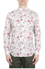 SBU 01603 Floral printed pattern red cotton shirt 01