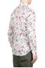 SBU 01603 Camisa de algodón estampado floral roja 04