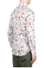 SBU 01603 Floral printed pattern red cotton shirt 04