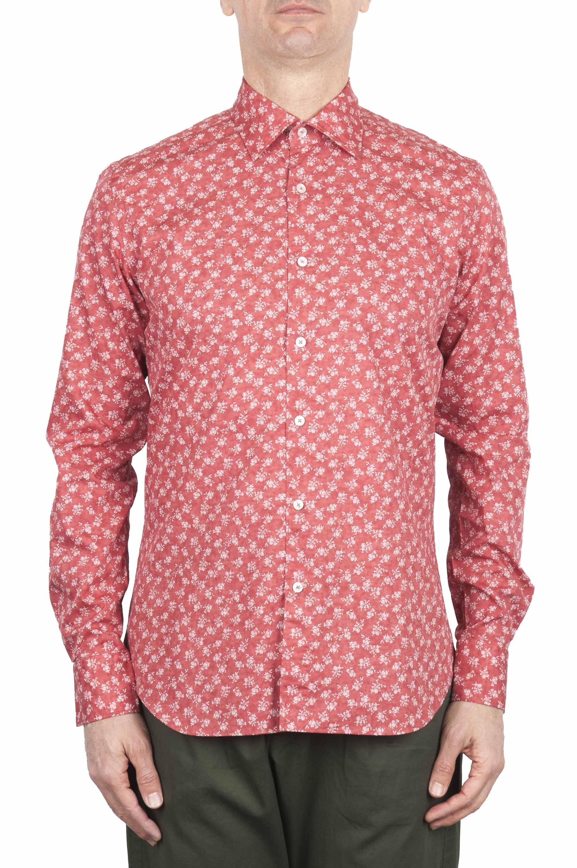 SBU 01604 Camicia fantasia floreale in cotone rossa 01