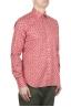 SBU 01604 花柄プリント赤コットンシャツ 02