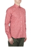 SBU 01604 Camicia fantasia floreale in cotone rossa 02