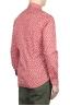 SBU 01604 花柄プリント赤コットンシャツ 04