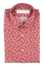 SBU 01604 Floral printed pattern red cotton shirt 06