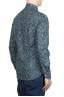 SBU 01605 Camisa de algodón estampado floral verde 04