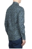 SBU 01605 Floral printed pattern green cotton shirt 04