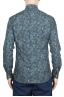 SBU 01605 Floral printed pattern green cotton shirt 05