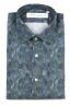 SBU 01605 Floral printed pattern green cotton shirt 06