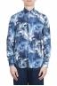 SBU 01606 Camisa de algodón estampado floral azul 01
