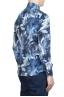 SBU 01606 Chemise en coton bleu à imprimé fleuri 04