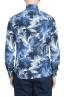 SBU 01606 Chemise en coton bleu à imprimé fleuri 05