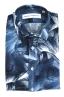 SBU 01606 Chemise en coton bleu à imprimé fleuri 06