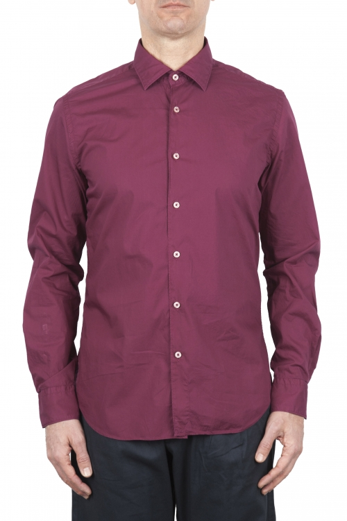 SBU 01607 Red super light cotton shirt 01