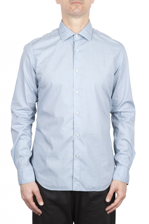 SBU 01608 Pearl grey super light cotton shirt 01