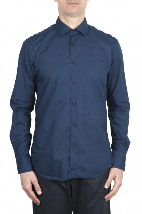 SBU 01609 Blue super light cotton shirt 01