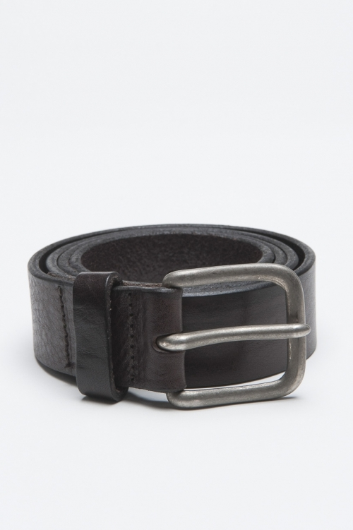 Classic Adjustable Buckle Closure Brown Leather 1.2 Inches Belt