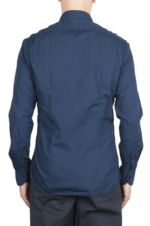 SBU 01609 Camicia in cotone super leggero blu 01