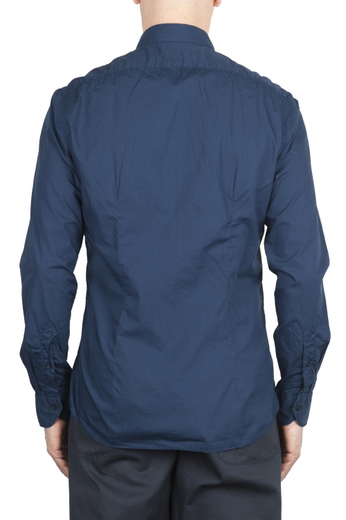 SBU 01609 Chemise bleu en coton super léger 01