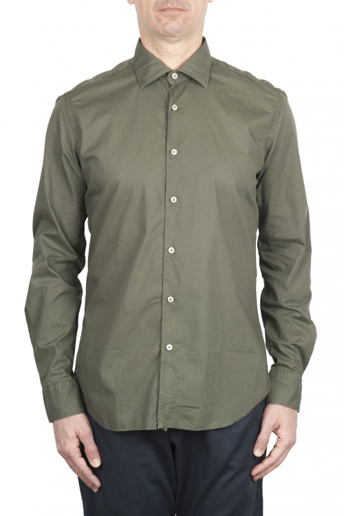 SBU 01610 グリーンスーパーライトコットンシャツ 01